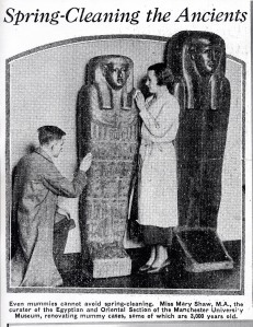Mary Shaw, one of the previous Egypt collection assistants