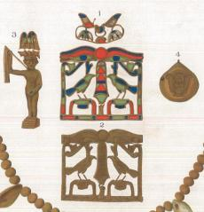 Group of jewellery with which the Riqqeh pectoral was found.