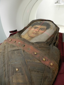 Will the face behind the portrait mask of 1768 match its youthful good looks?