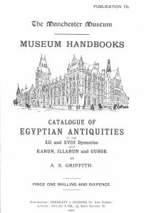 A.S. Griffith's 1910 handbook of material from Kahun and Gurob.