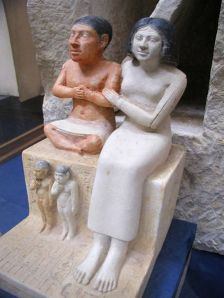 The statue of the dwarf Seneb and his family. Cairo Museum JE 51280.