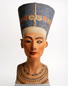 Replica of Nefertiti's painted bust in Manchester